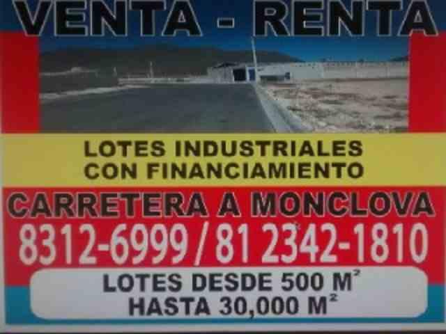 Terrenos industriales en Nuevo León Mina Mexico
